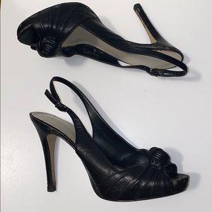 Nine West Luxious Black Formal Heels GUC